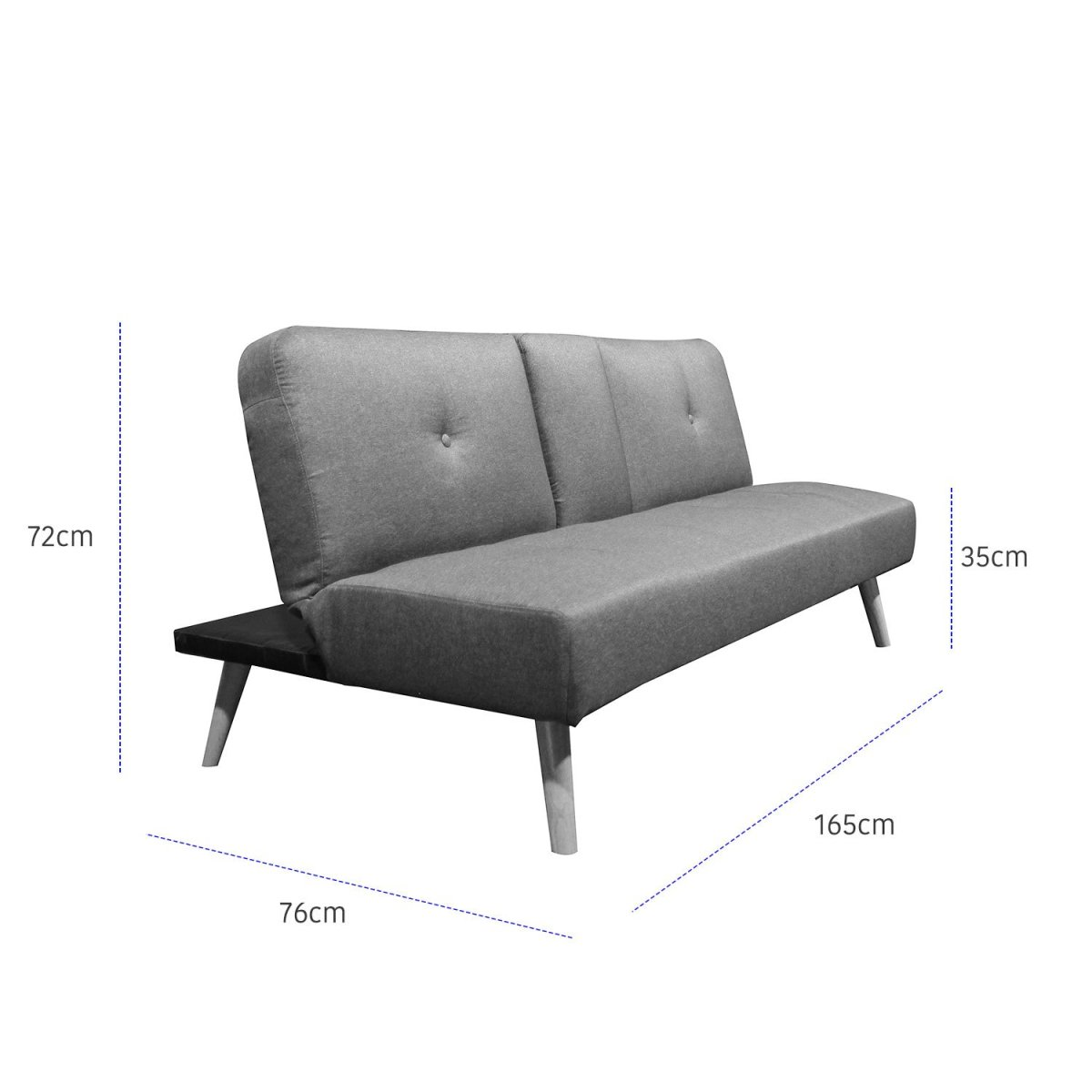 sofá cama hobbs 165 con portavasos 8