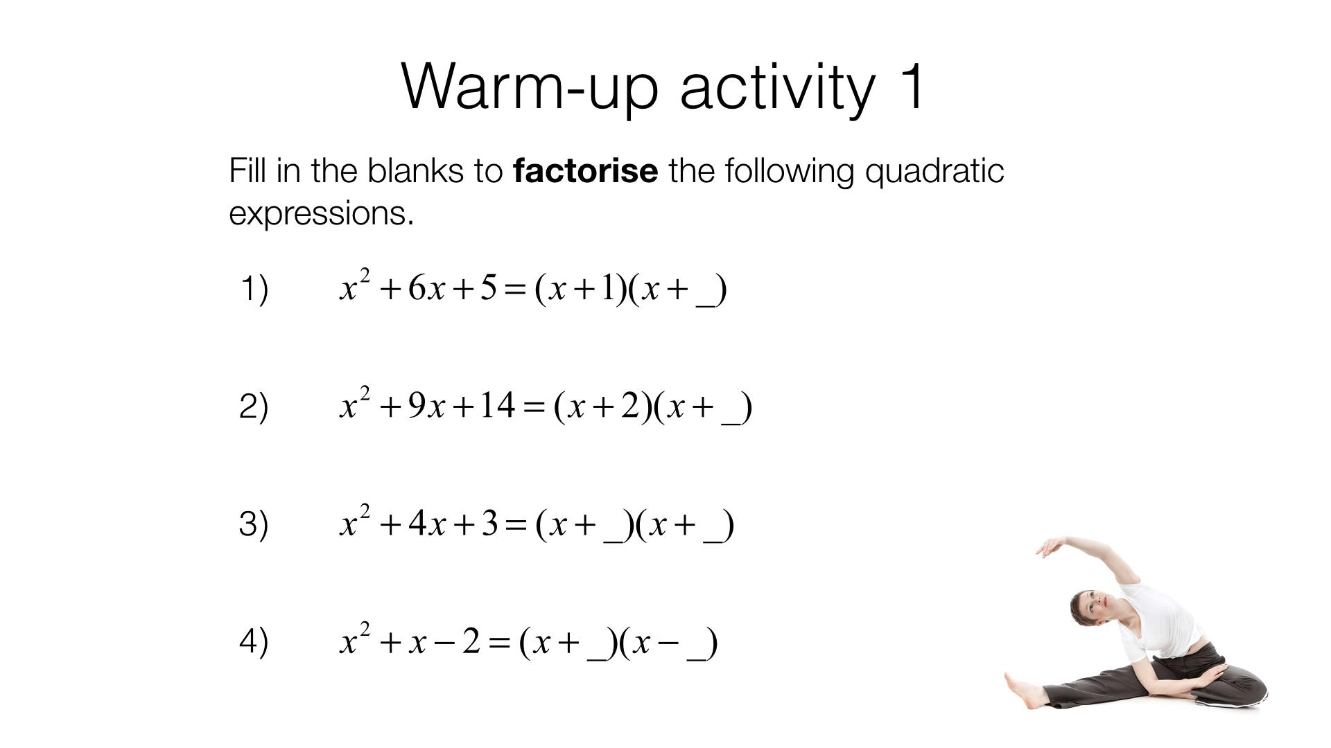 Teaching Solving Quadratic Equations