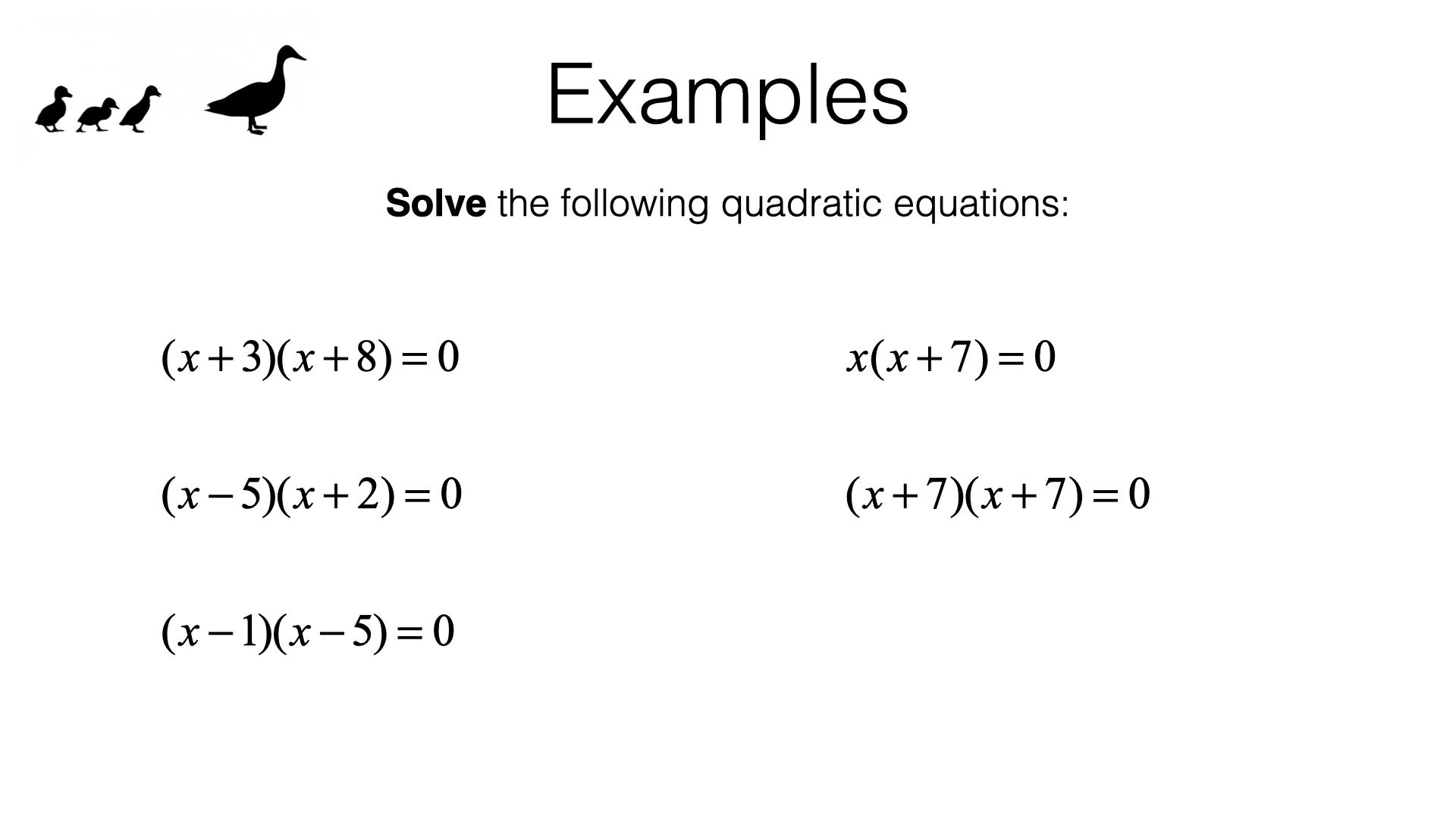 A18a Solving Quadratic Equations By Factorising Bossmaths