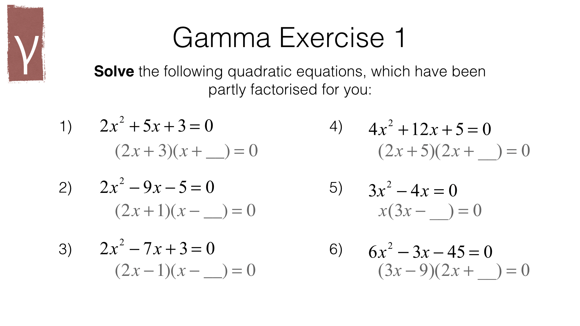 Hard Quadratic Equations Examples