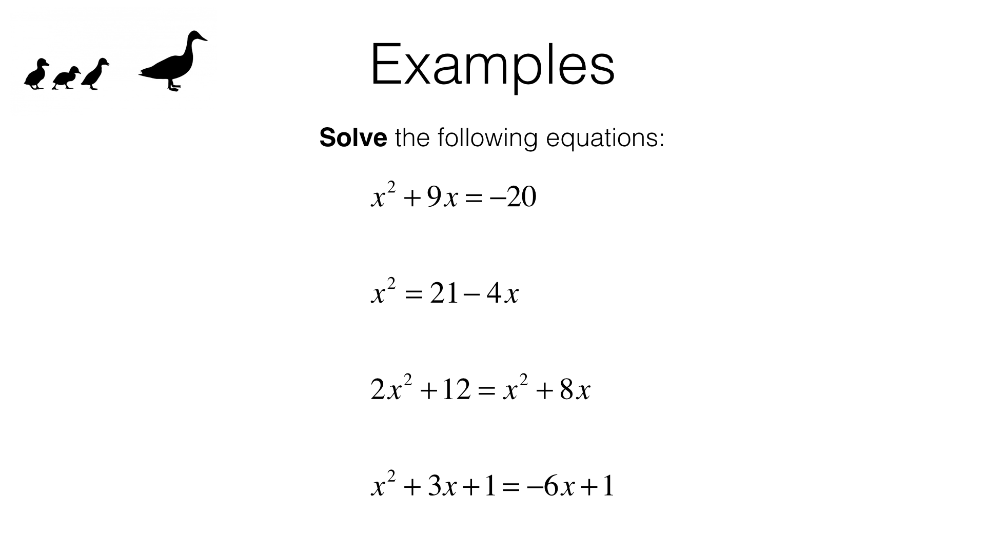 A18a Solving Quadratic Equations By Factorising Bossmaths