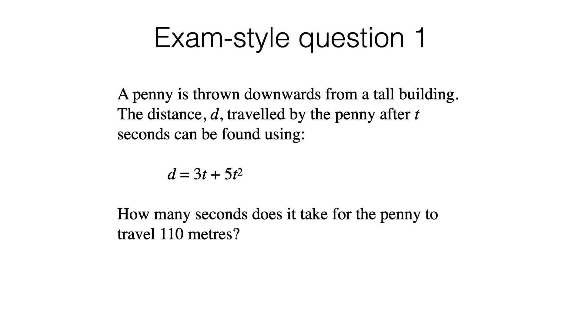 A18a Solving Quadratic Equations By Factorising