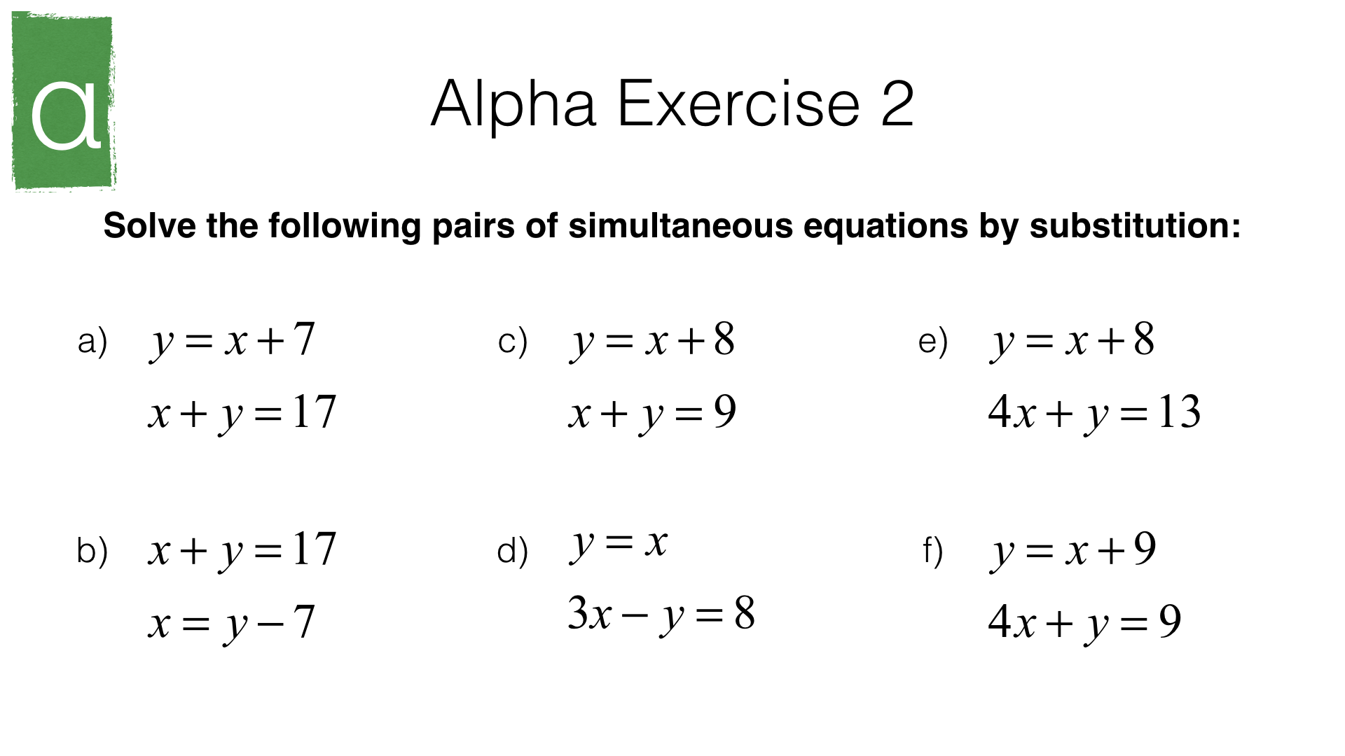Solving Equations Graphically And Algebraically