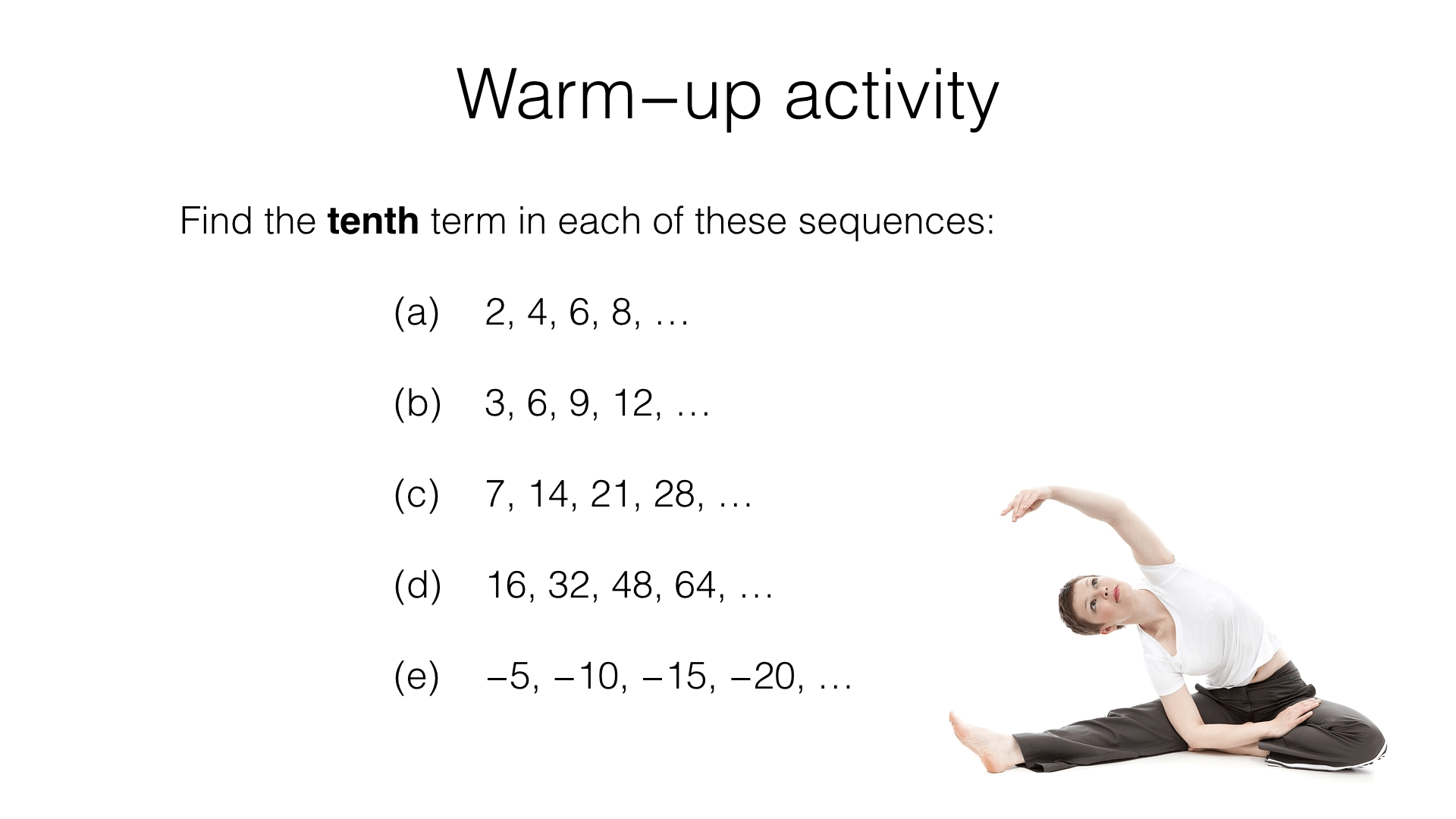 A23a Generating Terms Of A Sequence From Either A Term