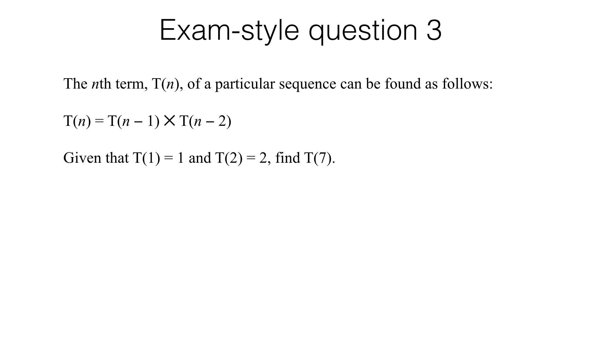 A24c Recognising And Using Fibonacci Type Sequences