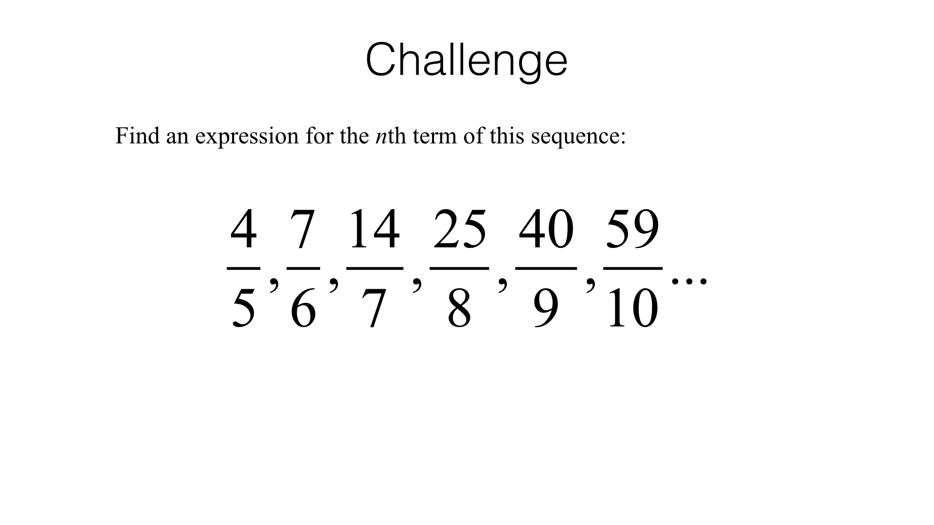 A25b Finding The Nth Term Of A Quadratic Sequence