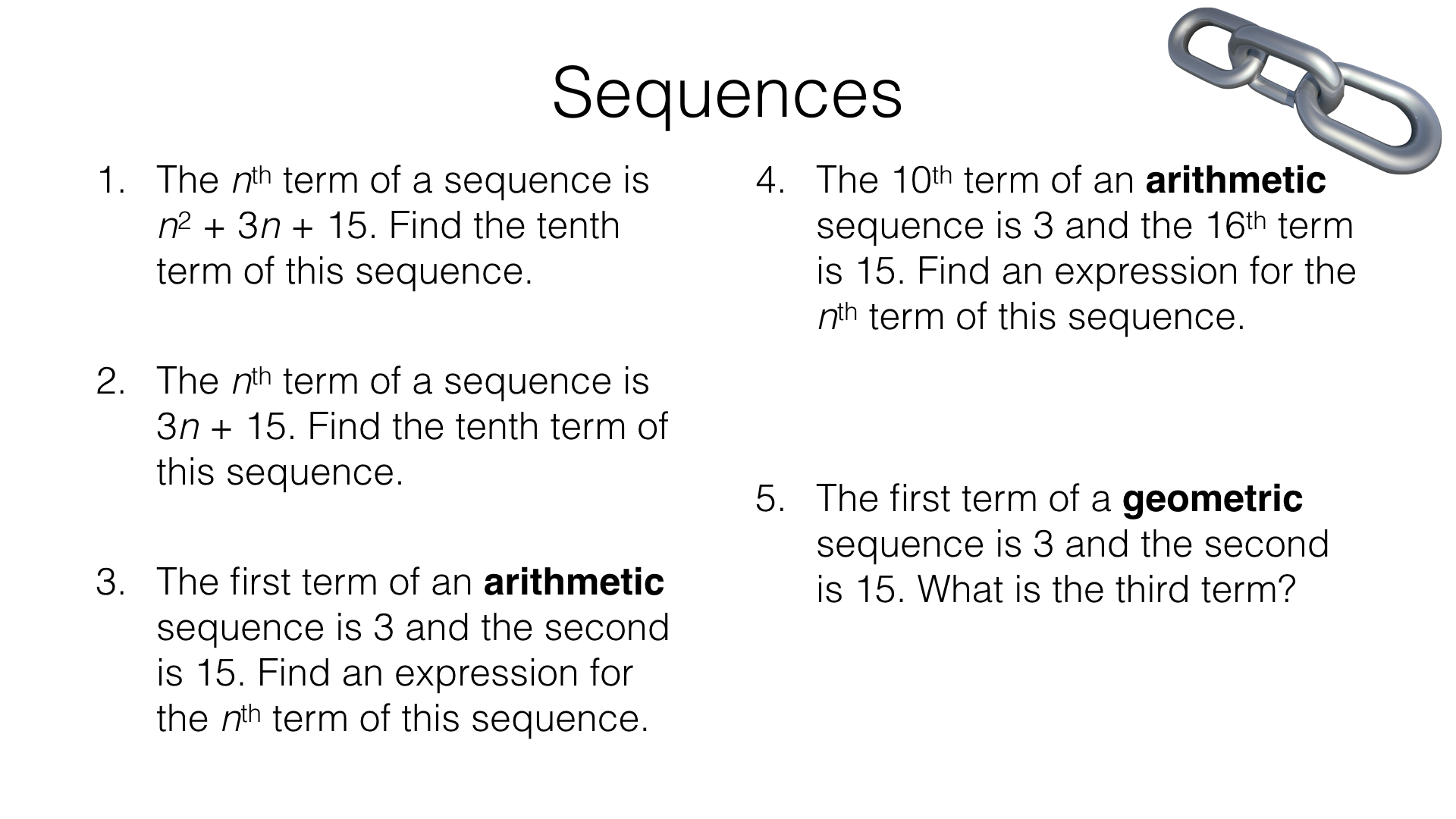 Sequences Assorted Problems Bossmaths