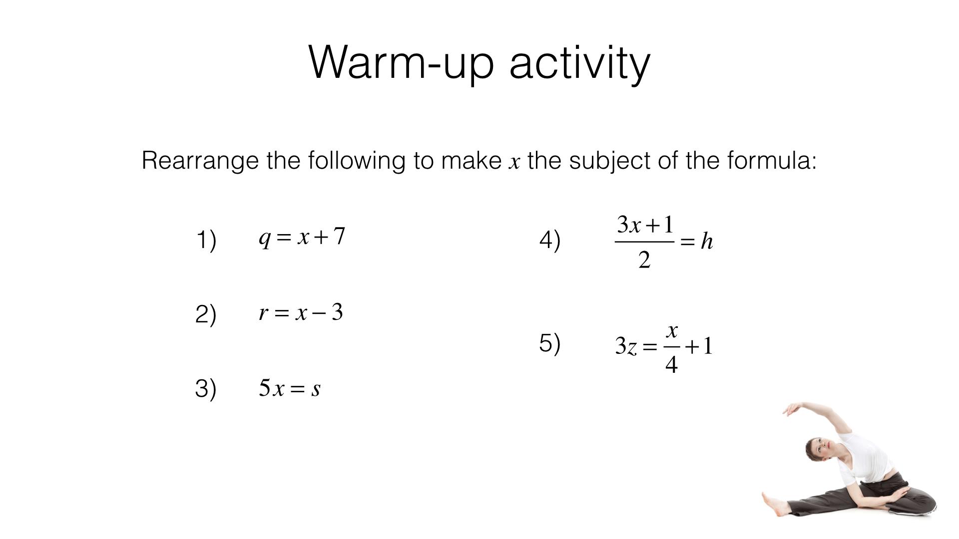 Rearranging Equations Worksheet Hard