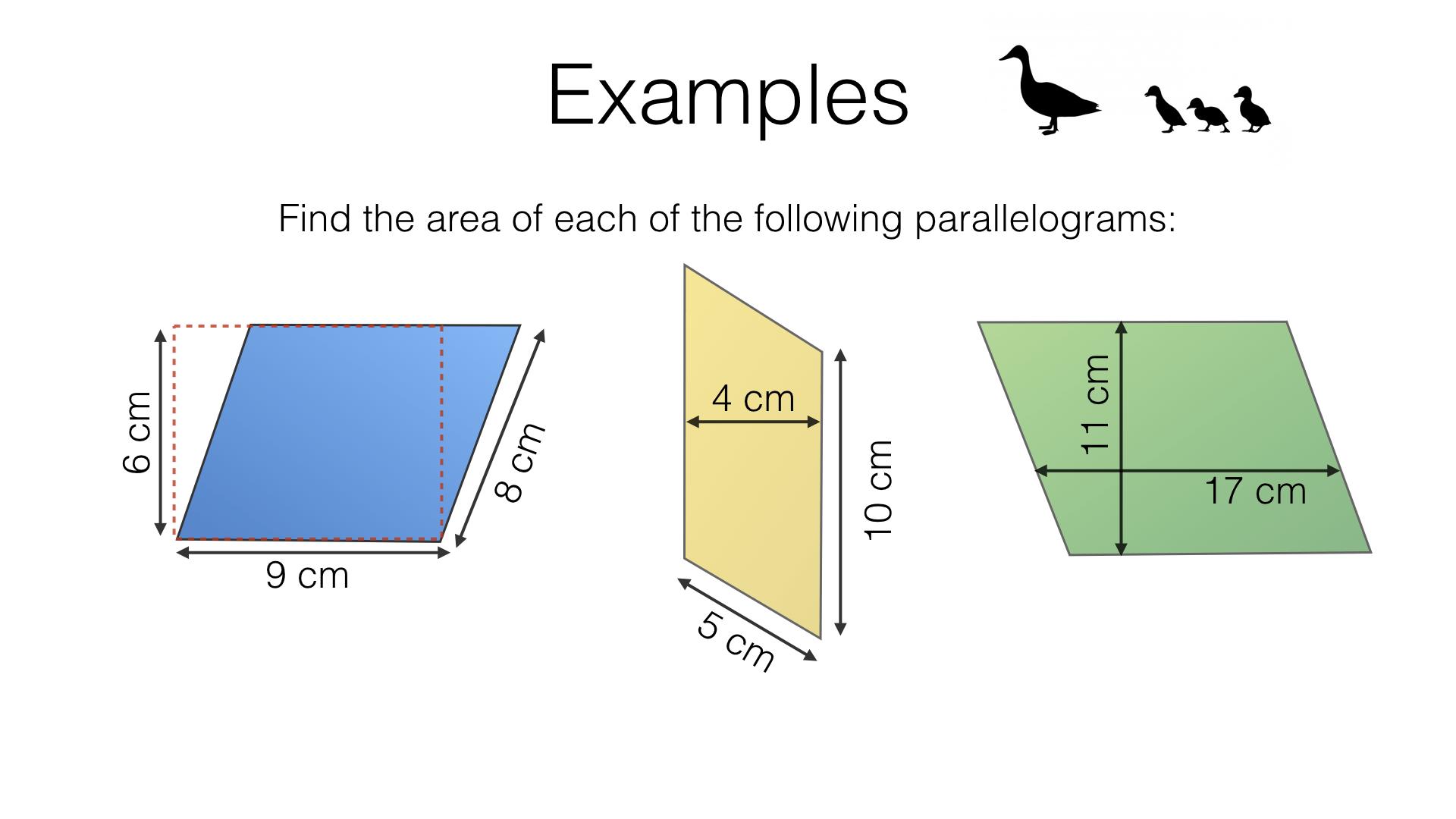 Parallelogram Questions Worksheet