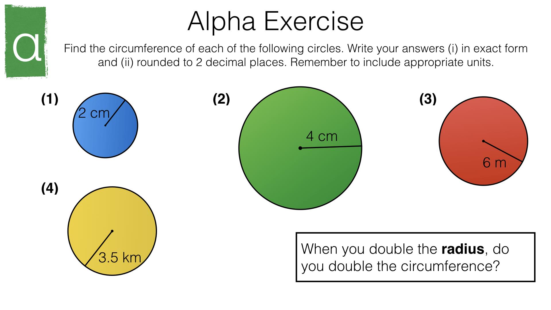 G17b Circumference Of A Circle Bossmaths