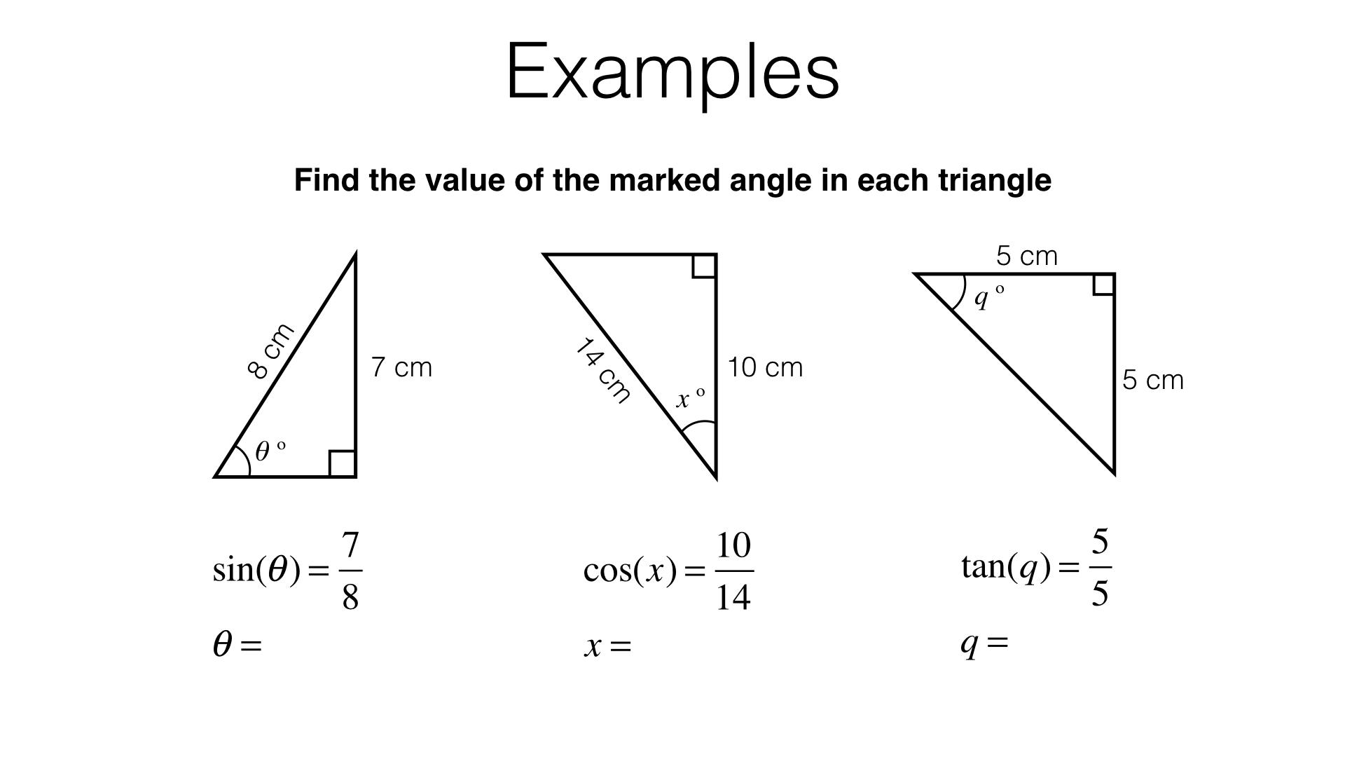 G20c Inverse Trigonometric Functions Bossmaths