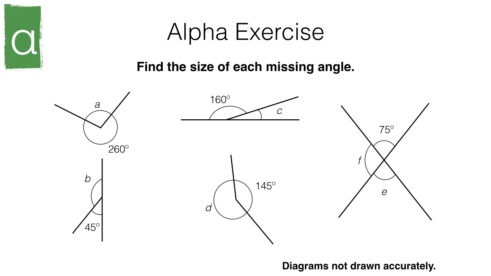 G3a Angles At A Point Angles At A Point On A Straight