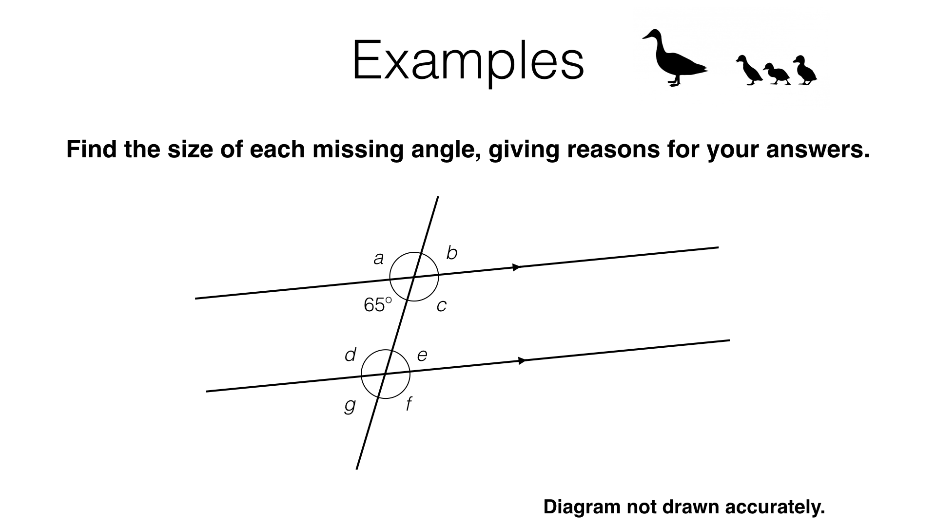 Angles In Parallel Lines Worksheet