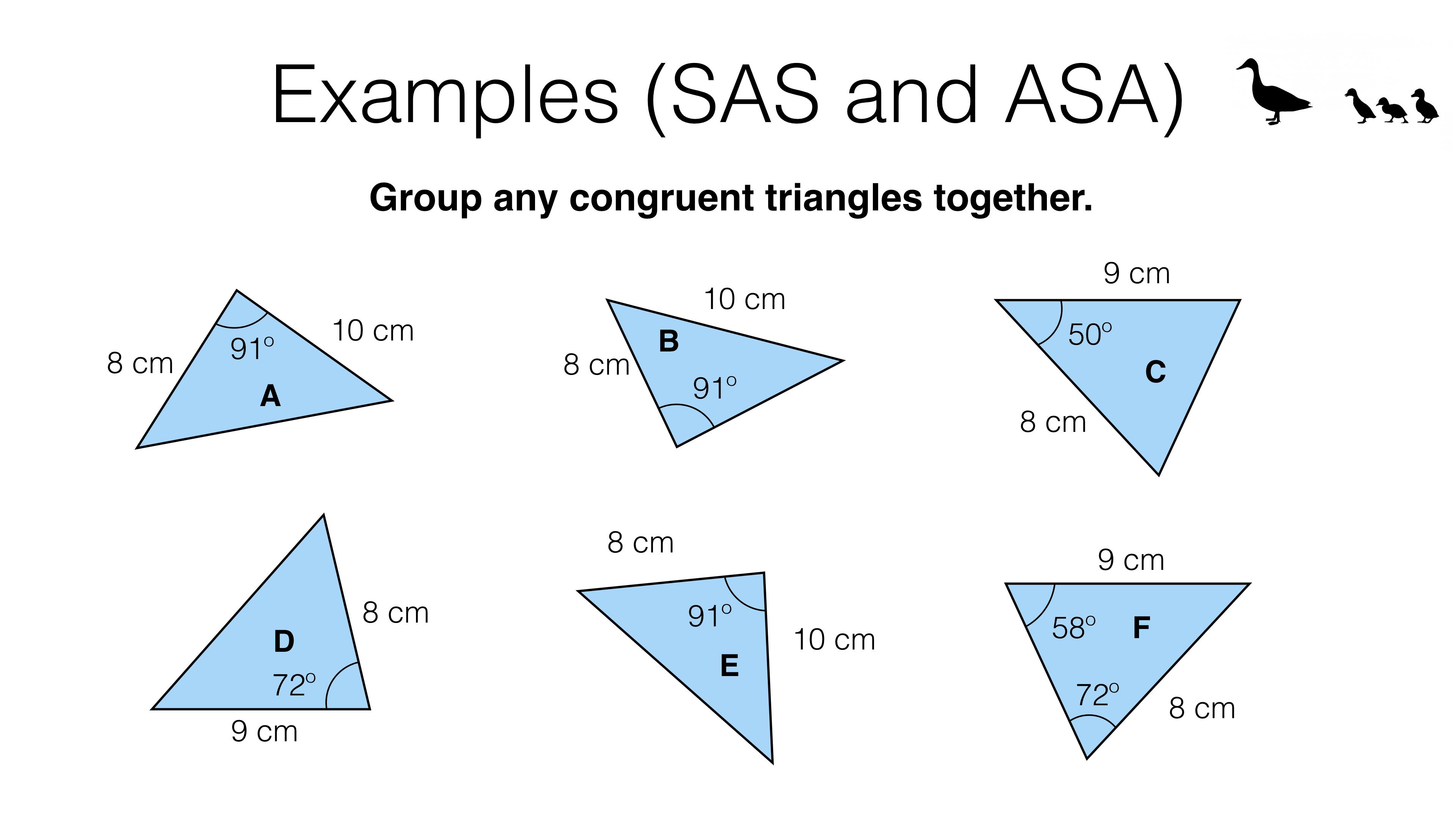 G5a Congruence Criteria For Triangles Sss Sas Asa