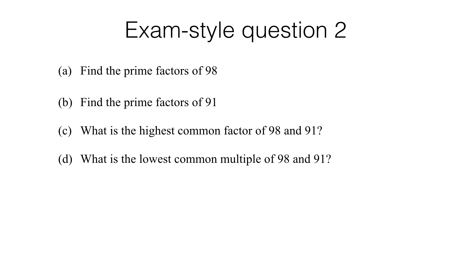 N4c Prime Numbers And Prime Factorisation Bossmaths