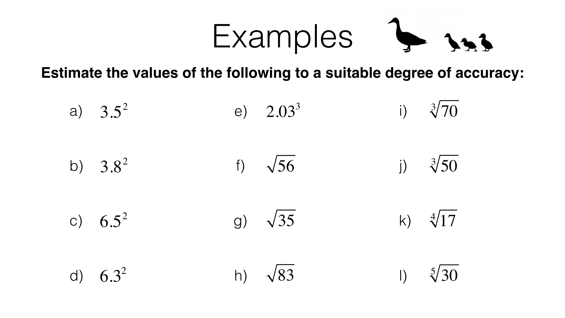 N6b Estimating Powers And Roots Bossmaths