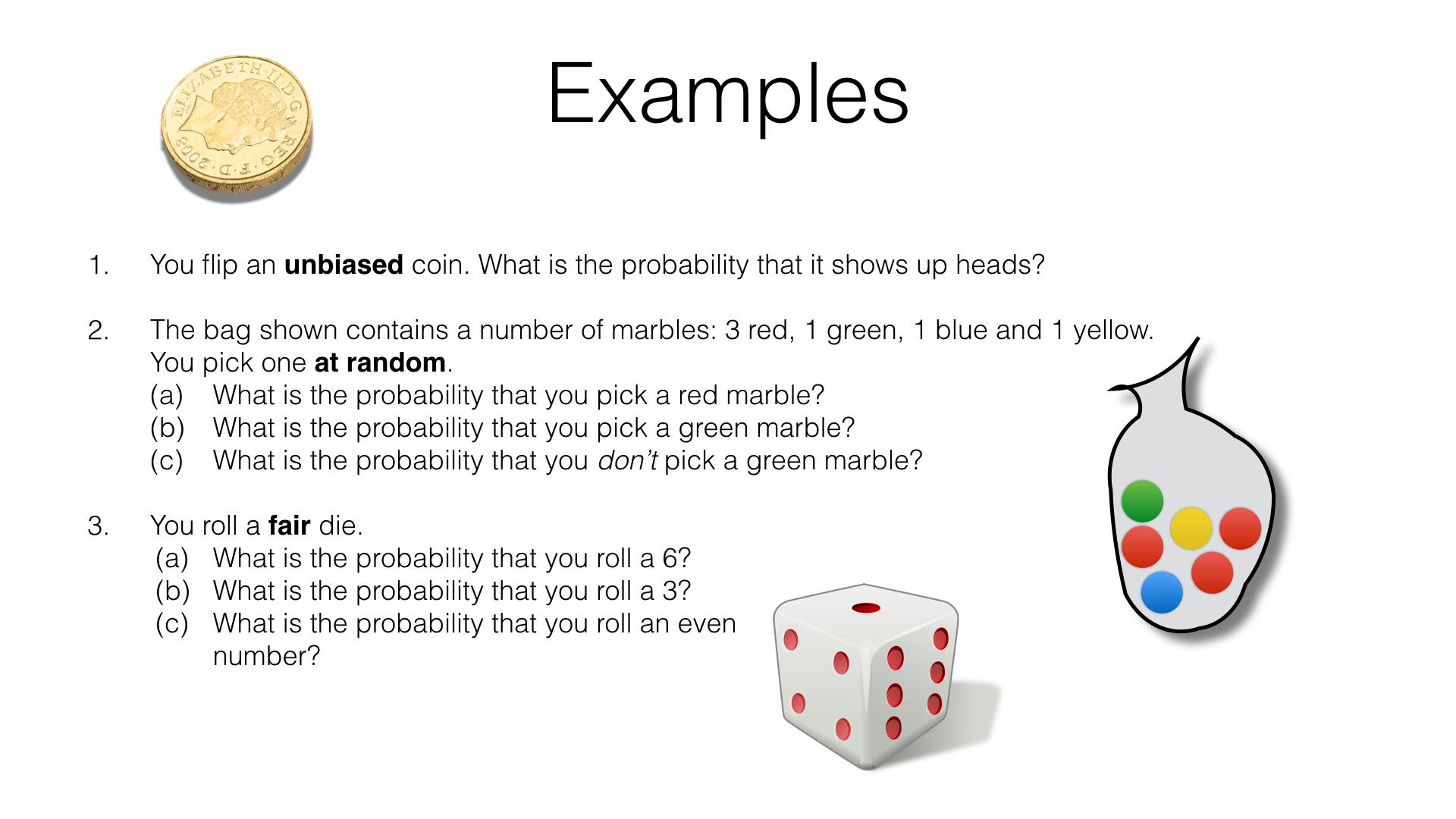 P2a Theoretical Probability Bossmaths