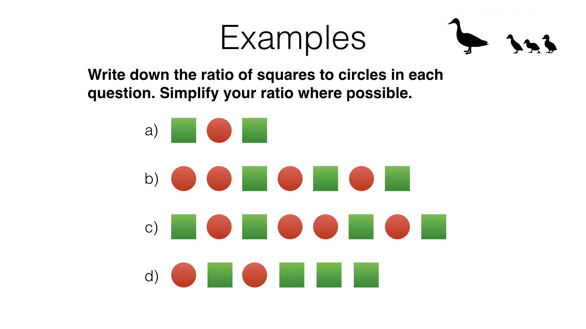 R4a Using Ratio Notation And Reducing Ratios To
