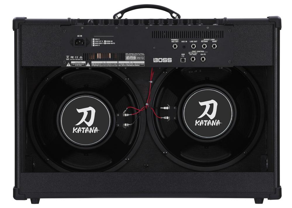 Katana-100/212 rear panel.