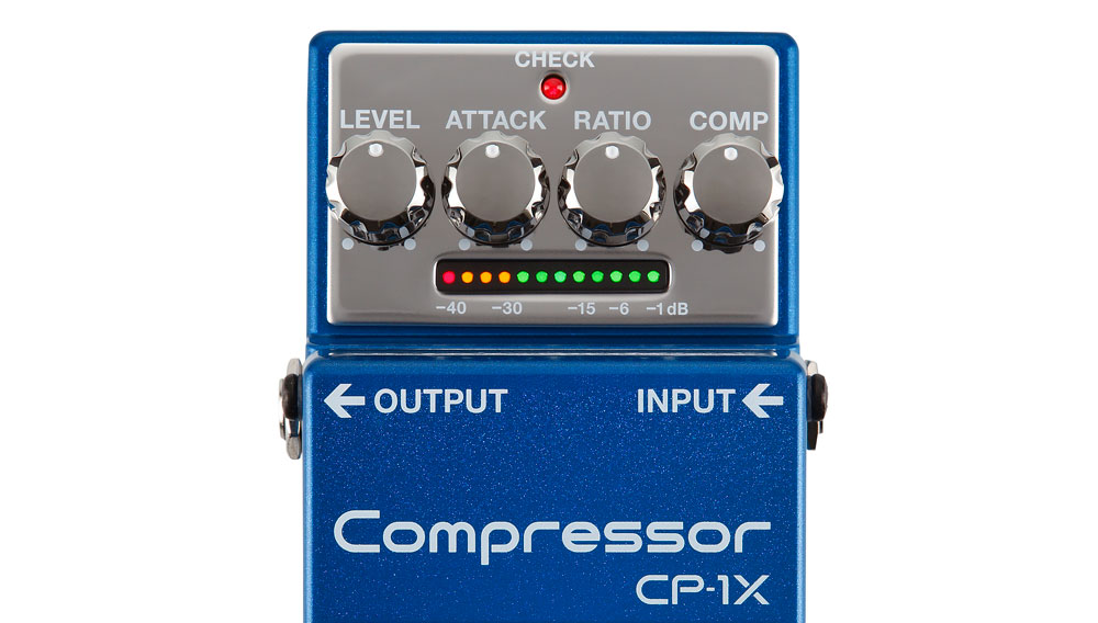 The CP-1X's intuitive interface controls numerous parameters inside the pedal.