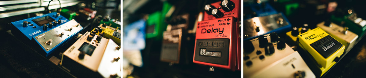 "On the ""Death of a Bachelor"" tour, Panic! at the Disco guitarist Kenneth Harris used a pedalboard filled with BOSS stompboxes, including the SY-300 guitar synth, DD-500 delay, and more."