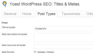 wordpress SEO post meta