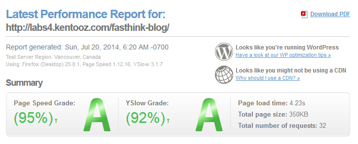 fasthink fast loading theme