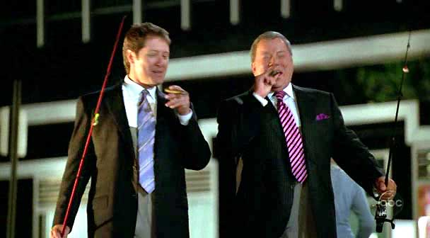denny crane, alan shore, cigar, boston legal