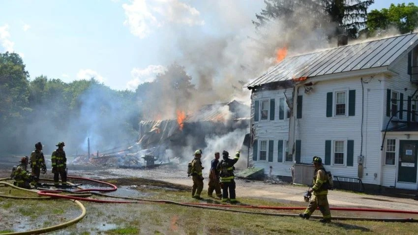 Fire Destroys Dormitory At Proctor Academy In New
