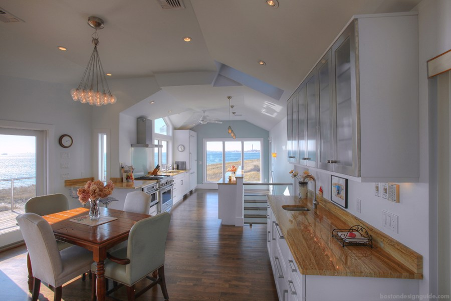 A Must See Cape Cod Waterfront Kitchen Renovation   Boston Design Guide Provincetown Cape Cod Custom Home
