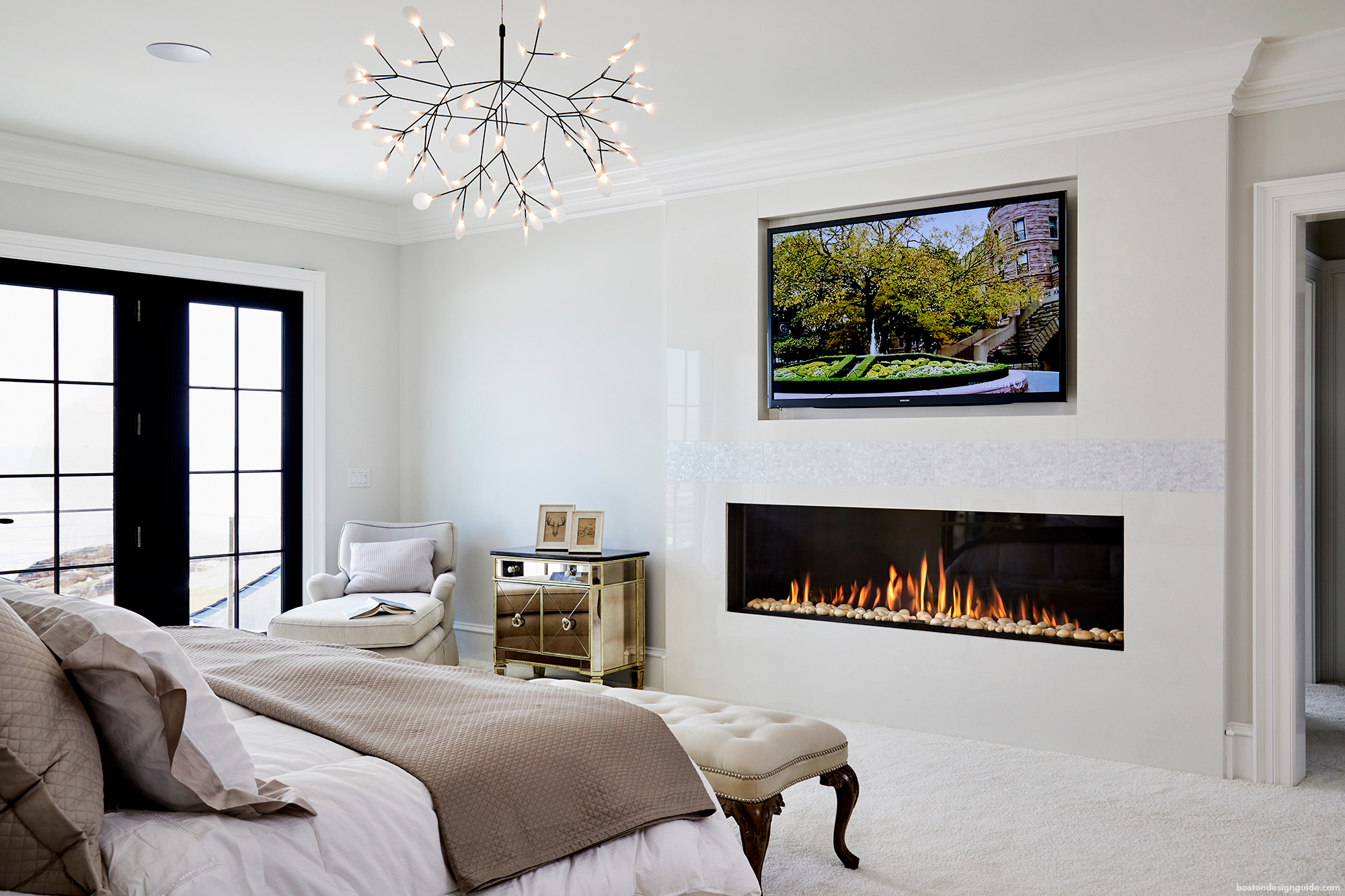 Heat Up Your Interiors With A Contemporary Fireplace
