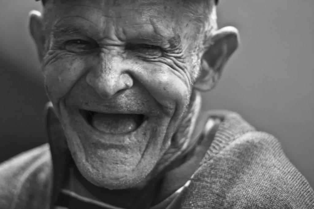 Happy elderly man
