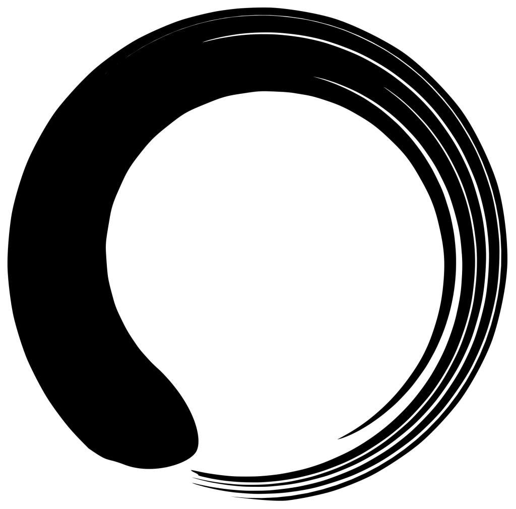 Enso symbol signifying enlightenment of universe