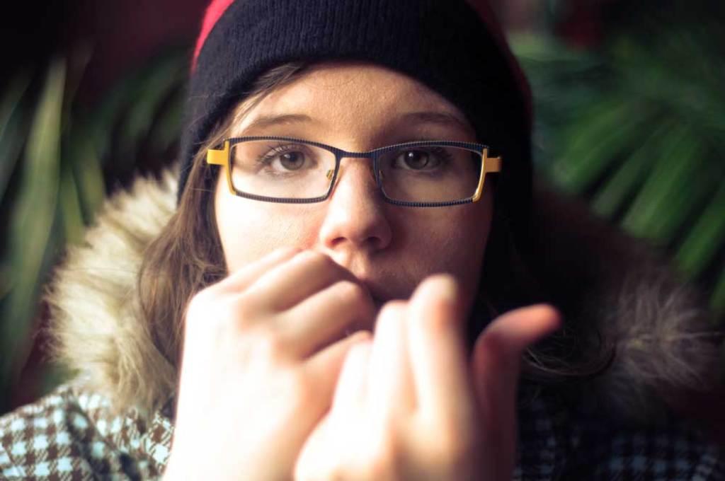 Anxious teen girl