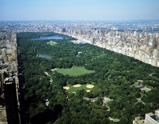 Aerial view of Central Park, New York. Original image from Carol