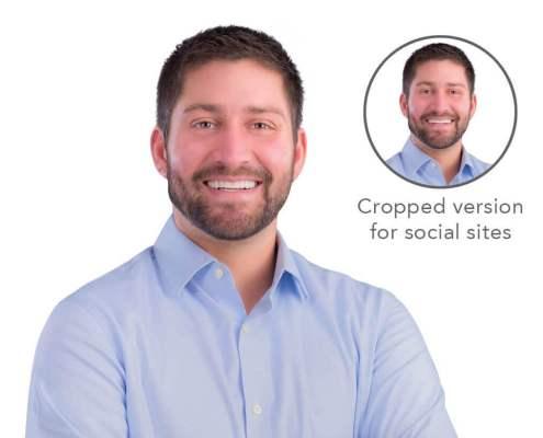 boston professional headshot executive white background