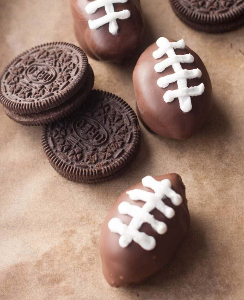 football chocolate balls