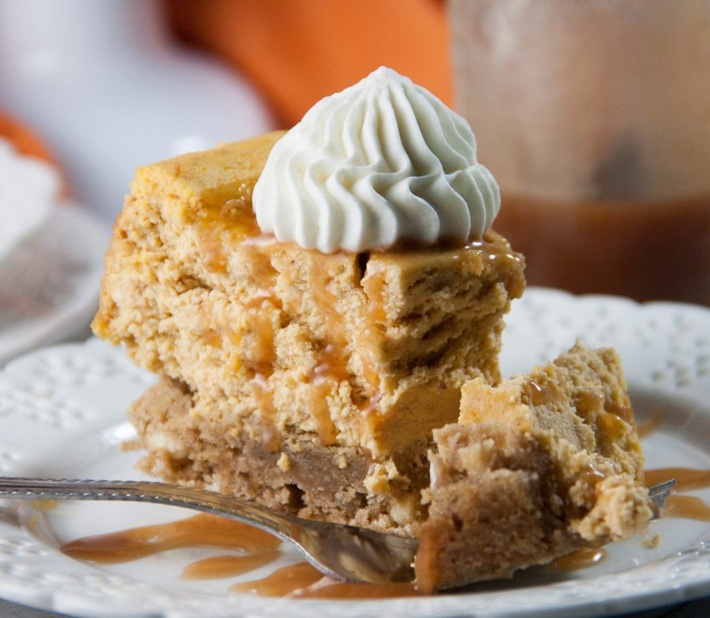 pumpkin blondie cheesecake