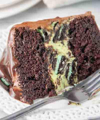 Mint Oreo Cheesecake Chocolate Cake