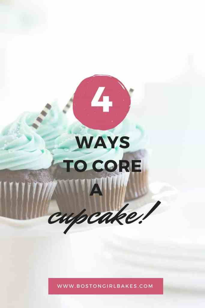 how to core a cupcake