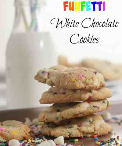 Funfetti White Chocolate Chip Cookies