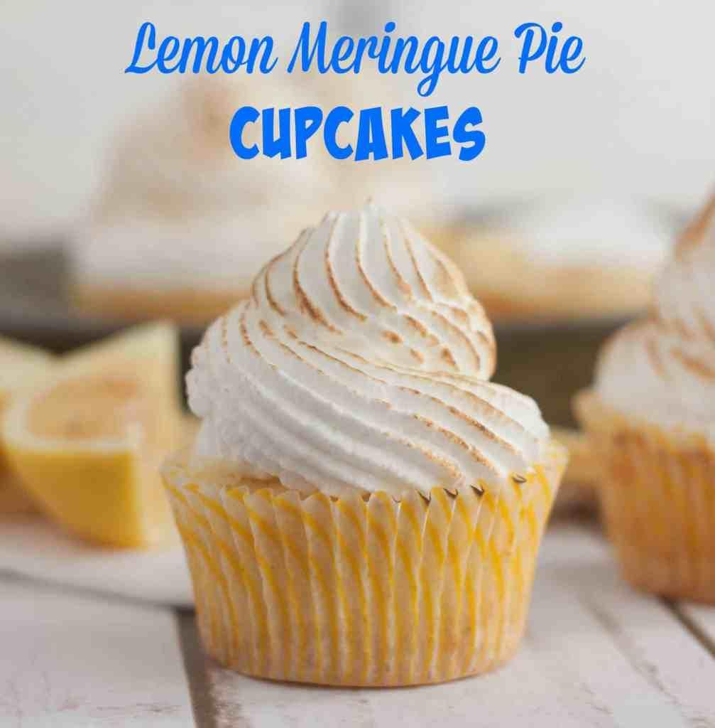 Lemon Meringue cupcakes- a lemon shortbread crust, lemon cupcake, filled with lemon curd, and a meringue frosting!