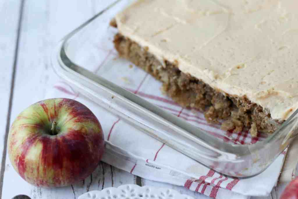 One Bowl Apple Sheet with Easy Caramel Icing