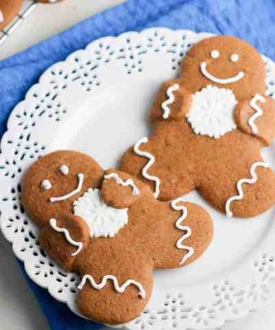 Gingerbread Cutout Hug Cookies