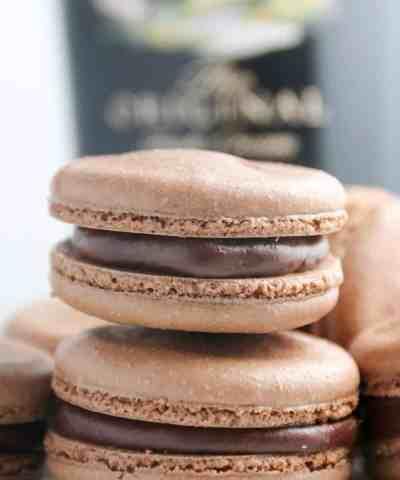 Chocolate Baileys Macarons