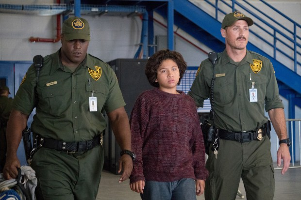 Oscar (Anthony Gonzalez) struggles in a migrant detention center in 'Icebox.' (Photo by HBO)