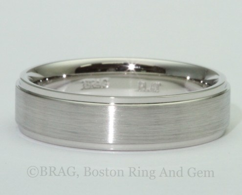 platinum men's wedding band classic
