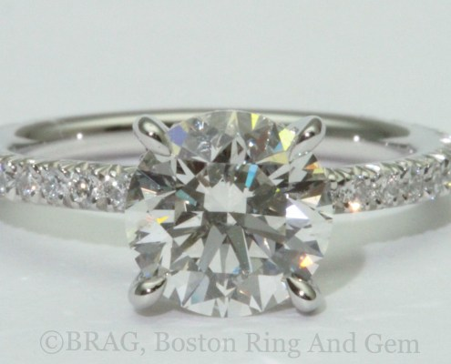 platinum engagement ring diamond solitaire classic traditional