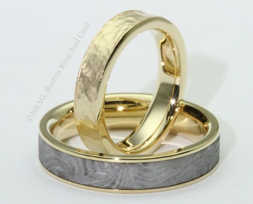 men's unique gold wedding band