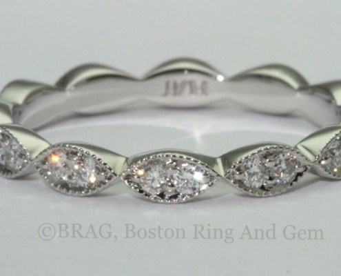 marquise platinum diamond eternity wedding band